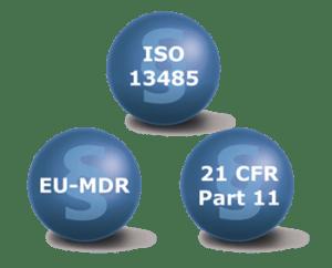 Zertifizierung nach ISO EN 13485:2016, EU-MDR-21 und CFR-Par 11