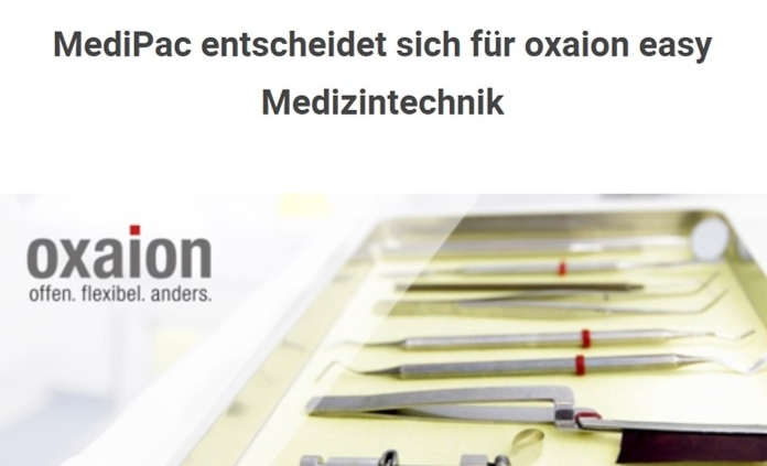MediPac implementiert oxaion easy Medizintechnik